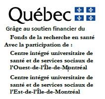 Gouvernement du Québec : Fonds de recherche en santé, CIUSSSODIM et CIUSSS EDIM